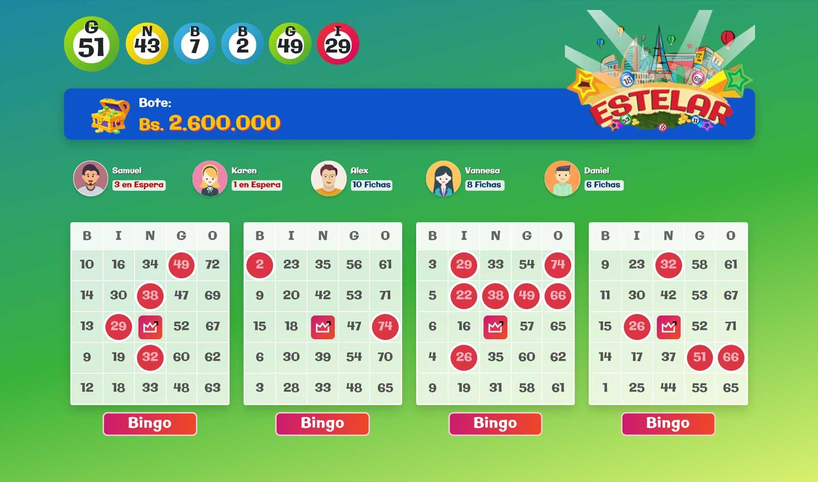 Juego Bingo Activo